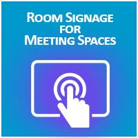 Digital Room Signage for Meeting Spaces